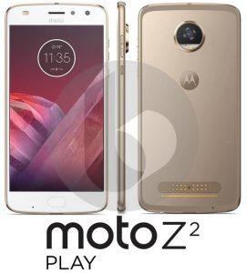 Se filtraron los renders de prensa de Moto Z2 Play