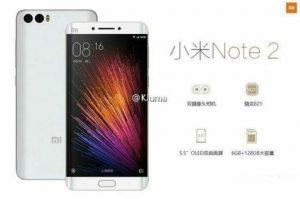 Superficie de imágenes de Xiaomi Mi Note 2;  Confirme la pantalla curva de 5,5 pulgadas y la configuración de la cámara trasera doble