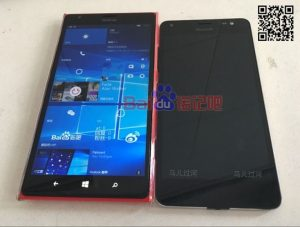 Superficie de imágenes en vivo del Lumia 650 XL;  Parece el Lumia 850