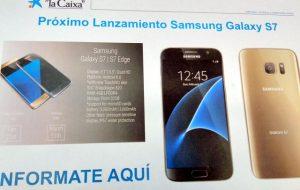 Superficie del póster promocional del Samsung Galaxy S7 antes del lanzamiento