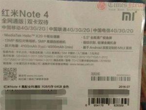 Superficies de embalaje Xiaomi Redmi Note 4;  Anuncio esperado el 25 de agosto