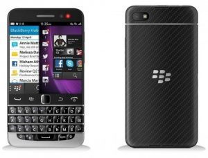 Superficies de imagen de BlackBerry Q20;  empresa dirigida a múltiples segmentos