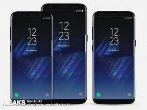 Superficies de material promocional Samsung Galaxy S8 y Galaxy S8 +