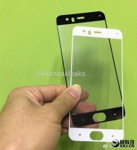 Superficies del panel de la pantalla Xiaomi Mi 6;  Confirma el escáner de iris