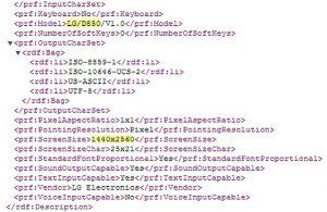 Supuesta variante de LG G3 con superficies de pantalla QHD en el sitio web de LG