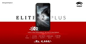 Swipe Elite 2 Plus con pantalla de 5 pulgadas lanzado por Rs.  4444