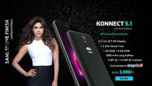 Swipe Konnect 5.1 con pantalla de 5 pulgadas lanzada por Rs.  3999