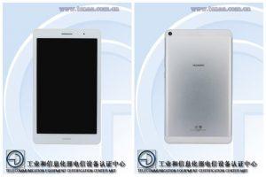 Tableta Huawei con pantalla HD de 8 pulgadas vista en TENAA