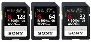 Tarjeta SD Sony SF-G Series UHS-II lanzada en India