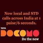 Tata Docomo ofrece llamadas a la red Tata en toda la India a 1 paise / 6 seg (10 paise / min)