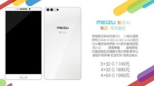 Teléfono inteligente Meizu X2 con superficies de configuración de cámara trasera doble