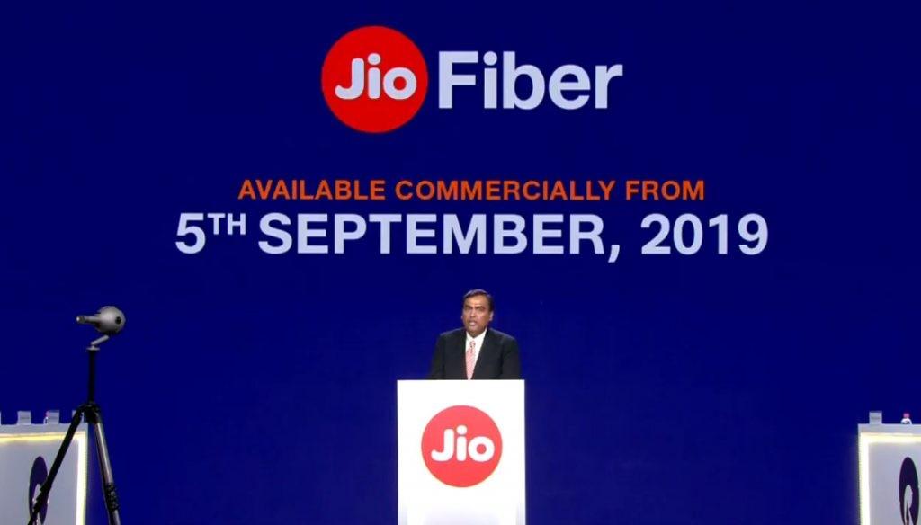 Fecha de lanzamiento de Jio-Fiber