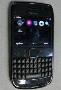 Toque y escriba fugas de Nokia