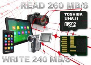 Las nuevas tarjetas de memoria microSD de Toshiba son las más rápidas del mundo