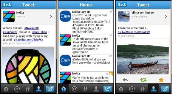 Twitter para Nokia ahora disponible para teléfonos S40