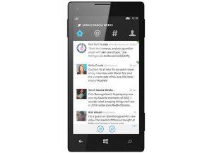 Twitter para Windows Phone actualizado con una nueva interfaz de usuario