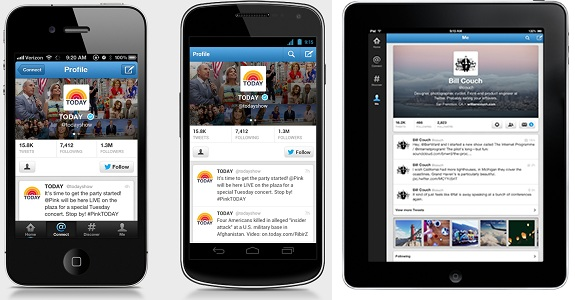 Twitter para iOS y Android