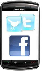Twitter y Facebook para BlackBerry actualizados a v3.0