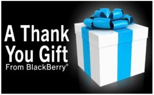 Última oportunidad para descargar las aplicaciones 'Thank You Gift' de BlackBerry