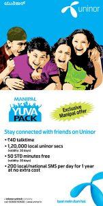 Uninor lanza Manipal Yuva Pack exclusivamente para los jóvenes