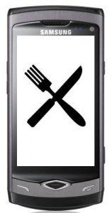 Varias aplicaciones de alimentos para sus teléfonos Android y Bada