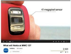 Video con dispositivo Nokia tipo EOS publicado en YouTube