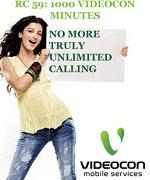 Videocon ahora ofrece 1000 minutos de Videocon y 100 sms de Videocon / día en RC 59