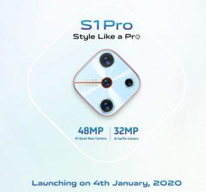 Vivo S1 Pro confirmado para lanzarse en India el 4 de enero