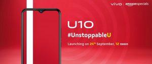 Vivo U10 se lanzará en India el 24 de septiembre