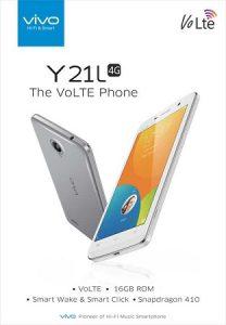 Vivo Y21L con pantalla de 4.5 pulgadas y soporte 4G VoLTE lanzado para Rs.  7490
