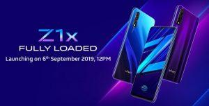 Vivo Z1X está listo para lanzarse en India el 6 de septiembre