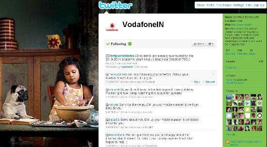 Vodafone India ahora en twitter