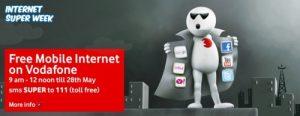 Vodafone Super Weeks ofrece Internet gratis de 9 a.m. a 12 del mediodía