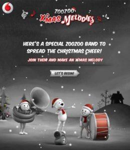 Vodafone lanza la aplicación de Facebook Zoozoo X'mas Melodies para Navidad