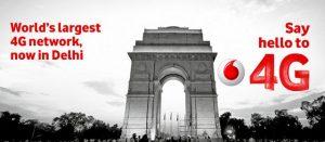 Vodafone lanza servicios 4G LTE en Delhi y NCR