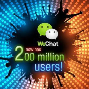 WeChat ahora tiene 200 millones de usuarios registrados