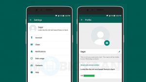 WhatsApp Beta versión 2.17.95 para Android trae de vuelta la función de estado basada en texto antiguo