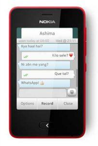 WhatsApp ahora disponible en Nokia Asha 501