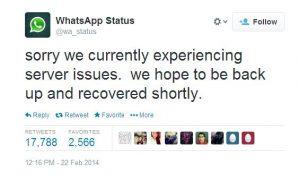WhatsApp no funciona;  confirma problemas del servidor en Twitter