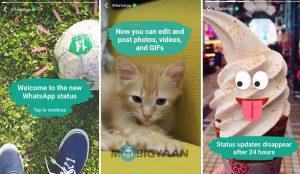 WhatsApp obtiene una nueva función de 'Estado';  parece Snapchat Clone