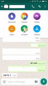 WhatsApp para Android tiene la opción de compartir documentos