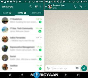 WhatsApp se actualiza con la interfaz de usuario de Material Design