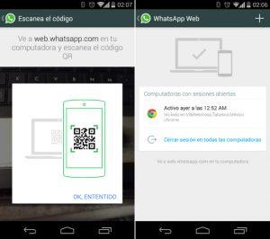 WhatsApp trabajando en un cliente web, sugiere capturas de pantalla filtradas