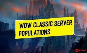 Poblaciones y proporción de servidores clásicos de WoW (más reciente) 2021