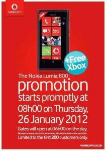 Xbox 360 gratis con Nokia Lumia en Sudáfrica
