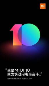 Xiaomi MIUI 10 llegará oficialmente el 31 de mayo de 2018