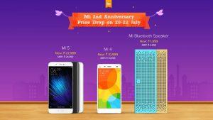 Xiaomi Mi 4, Mi 5 y Mi Bluetooth Speaker reciben un recorte de precio por la venta del segundo aniversario de Mi