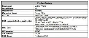 Xiaomi Redmi 2 Pro visto en la FCC;  Podría dirigirse a los EE. UU.