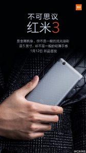 Xiaomi Redmi 3 se dará a conocer el 12 de enero