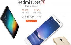 Xiaomi Redmi Note 3 se agotó en minutos en la primera venta;  Próxima venta el 16 de marzo